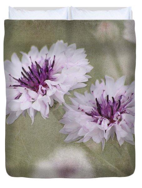 Bachelor Buttons - Flowers Duvet Cover
