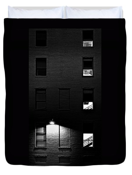 Back Alley 330am Duvet Cover by Bob Orsillo