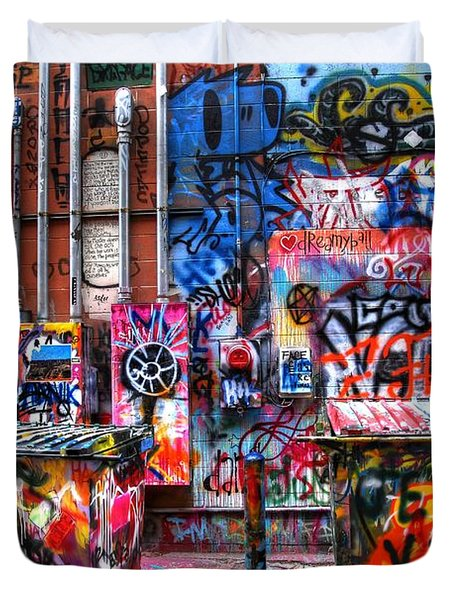 Duvet Cover featuring the photograph Back Alley Canvas by Anthony Wilkening