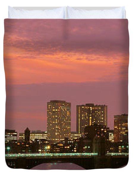 Back Bay, Boston, Massachusetts, Usa Duvet Cover