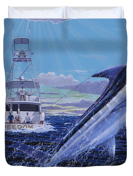 Back Her Down Off00126 Duvet Cover by Carey Chen