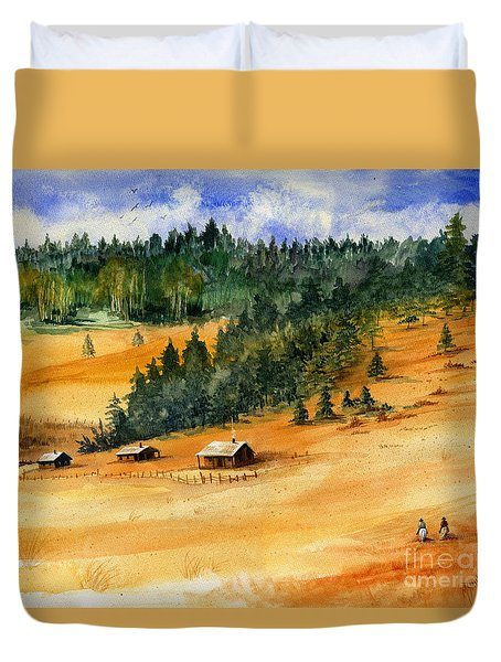Back Home Duvet Cover by Marilyn Smith