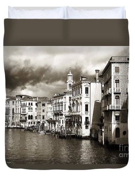 Duvet Cover featuring the photograph Back In Time On The Grand Canal by John Rizzuto