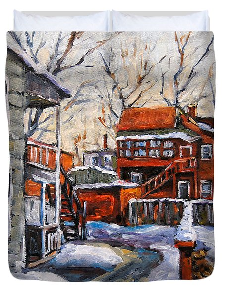 Back Lanes 02 Montreal By Prankearts Duvet Cover by Richard T Pranke