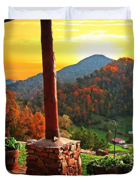 Back Porch Paradise Duvet Cover