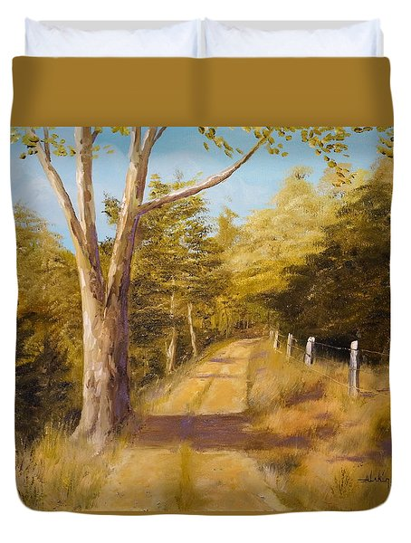 Back Road Duvet Cover