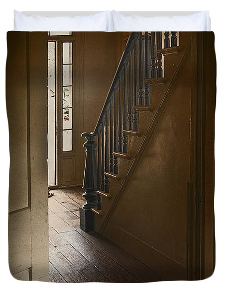 Back Stairway Duvet Cover by Margie Hurwich