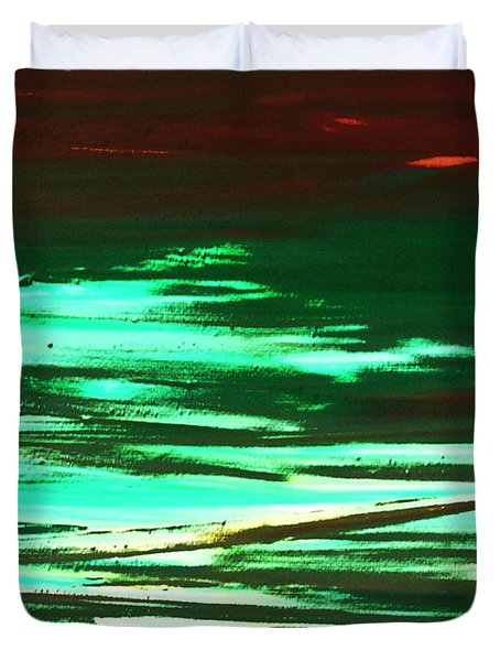 Back To Canvas The Landscape Of The Acid People Duvet Cover