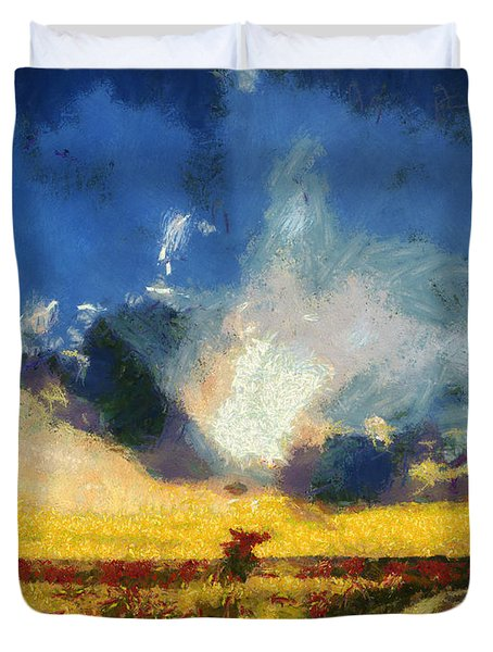 Duvet Cover featuring the painting Back To Goodbye by Joe Misrasi