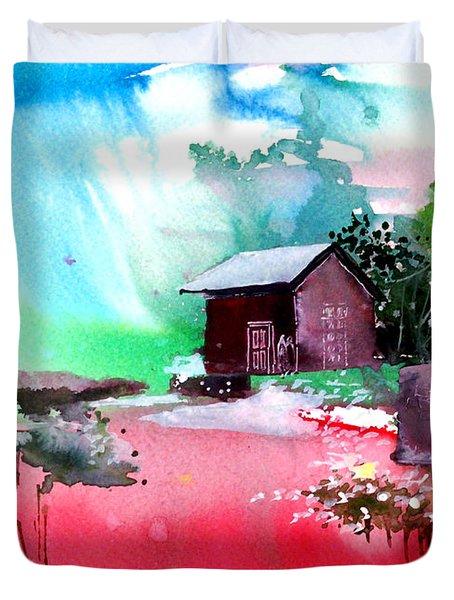 Back To Pavilion Duvet Cover by Anil Nene