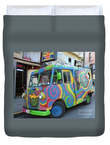 Back To The Sixties Duvet Cover by John Telfer