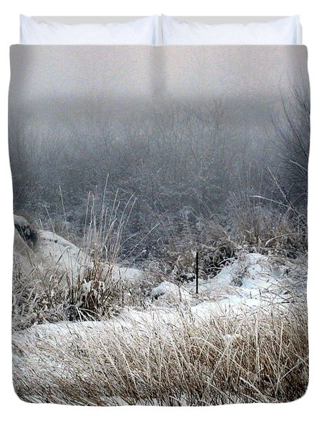 Back Woods Winter Duvet Cover