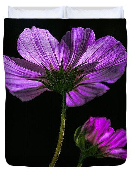 Backlit Blossoms Duvet Cover