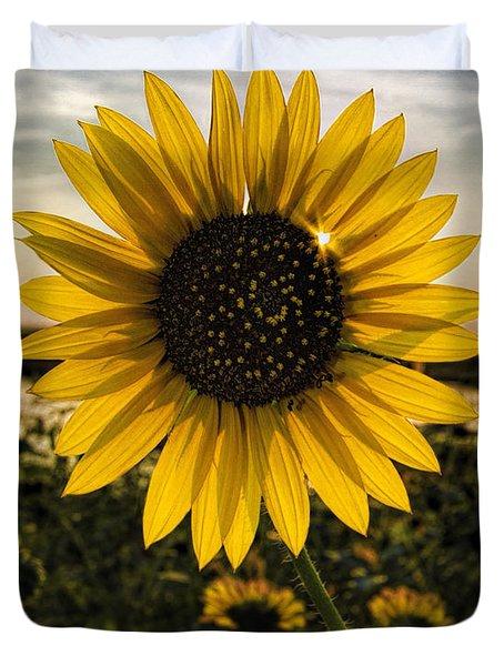 Backlit Sunflower Duvet Cover