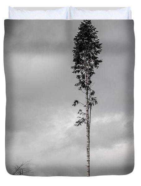 Lone Tree Landscape  Duvet Cover