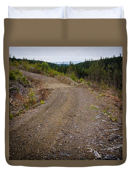 4x4 Logging Road To Adventure Duvet Cover