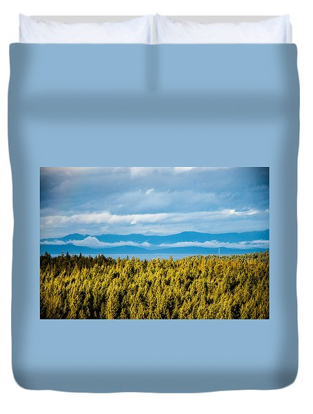 Backroad Ocean View Duvet Cover
