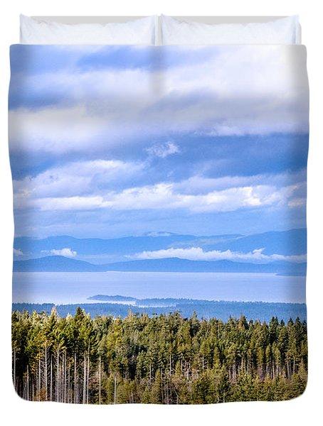 Johnstone Strait High Elevation View Duvet Cover