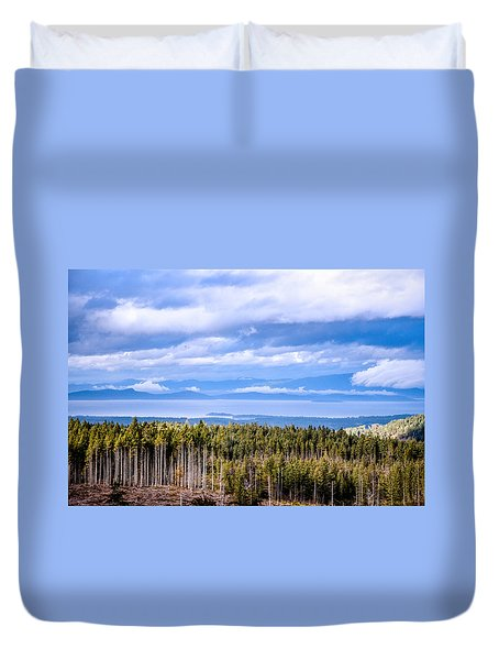 Johnstone Strait High Elevation View Duvet Cover