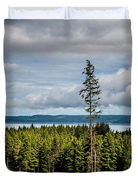 Logging Road Ocean View  Duvet Cover