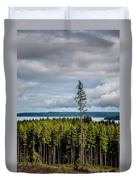 Logging Road Ocean View  Duvet Cover