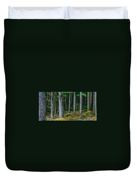 Inside View Backroad Forest Duvet Cover
