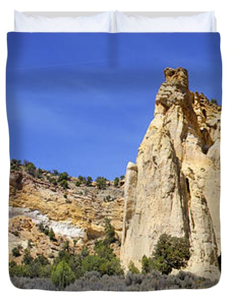 Backroads Utah Panoramic 2 Duvet Cover by Mike McGlothlen
