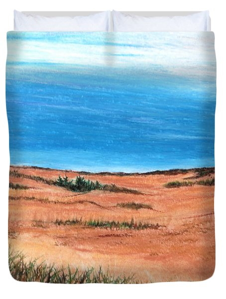 Backside Beach Duvet Cover