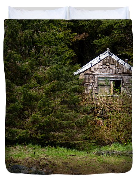 Backwoods Shack Duvet Cover