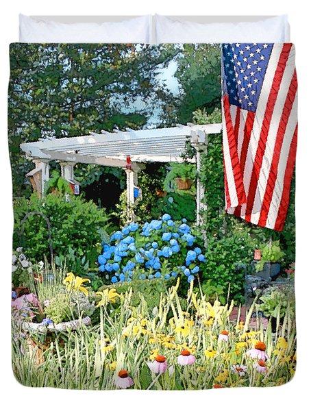Backyard Paradise Duvet Cover