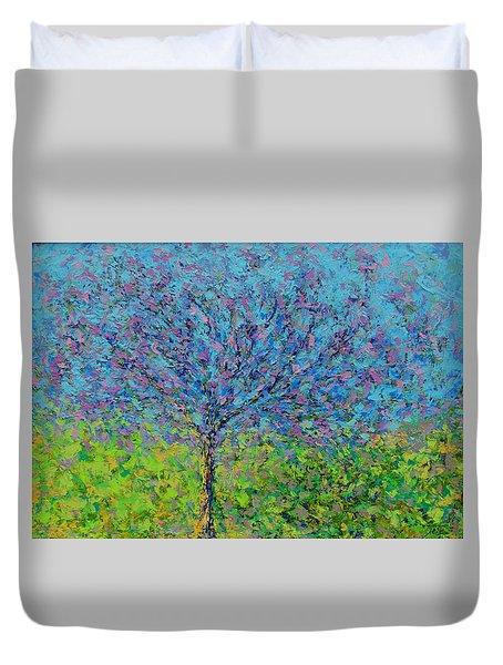 Purple Tree Duvet Cover by Kat Griffin