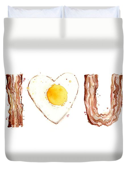 Bacon And Egg Love Duvet Cover