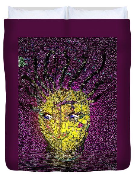 Duvet Cover featuring the photograph Bad Hair Day by Irma BACKELANT GALLERIES