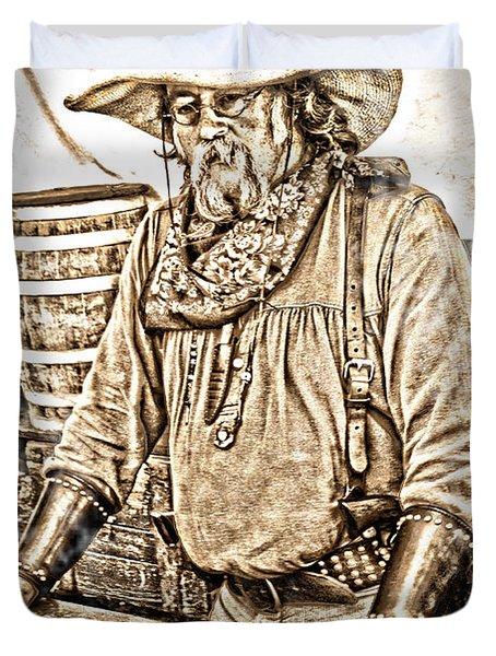 Bad Times Pilgrim Gotta Be Ready Duvet Cover by Randall Branham