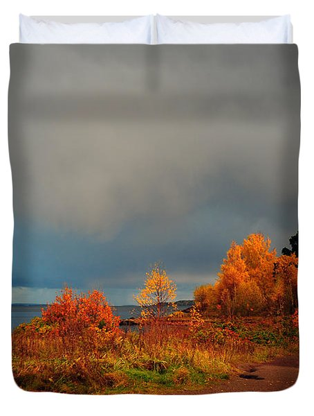 Bad Weather Coming Duvet Cover