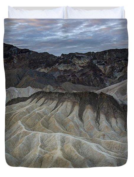 Badlands At Sunrise. Death Valley Duvet Cover