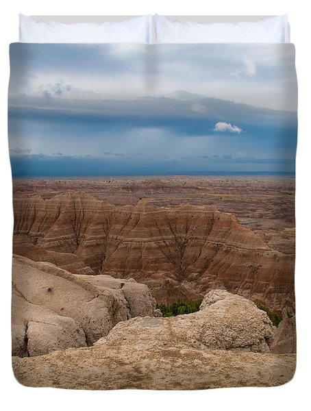 Badlands South Dakota Duvet Cover by Don Spenner