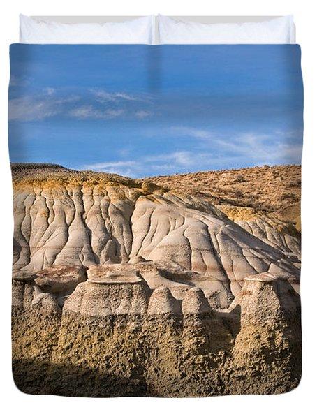 Badlands Erosion Duvet Cover by Vivian Christopher