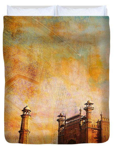 Badshahi Mosque Duvet Cover by Catf