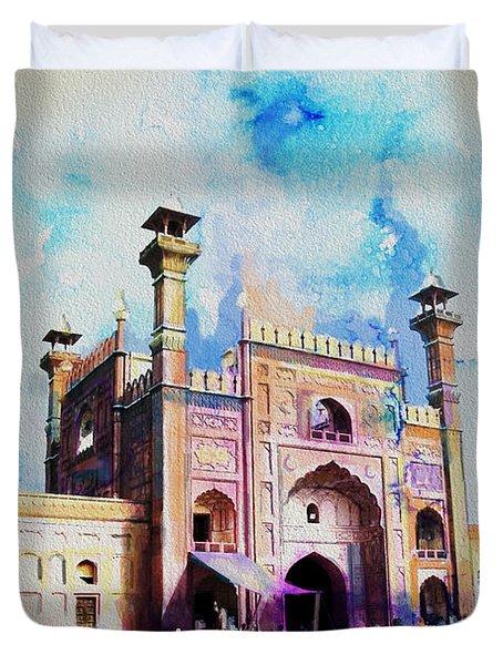 Badshahi Mosque Gate Duvet Cover by Catf
