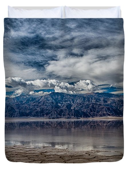 Badwater Reflection Duvet Cover by Cat Connor