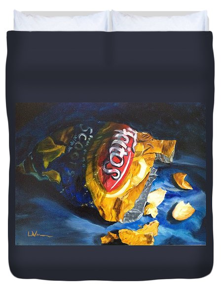 Bag Of Chips Duvet Cover by LaVonne Hand