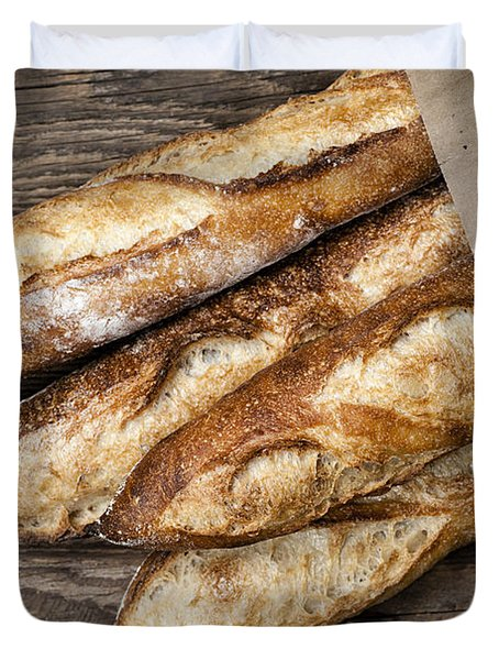 Baguettes Bread Duvet Cover by Elena Elisseeva