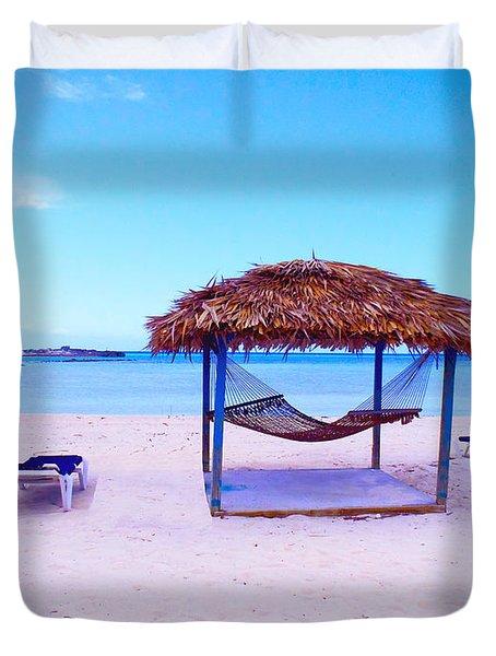 Bahama Hut Duvet Cover