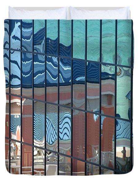 Bahamas Beach Pavilion Duvet Cover
