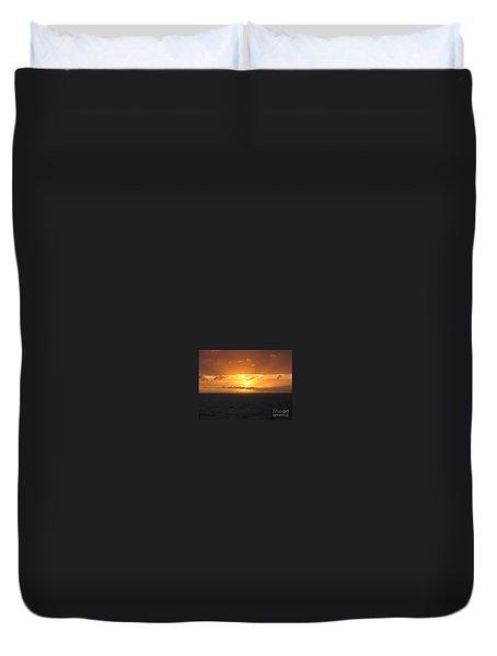 Bahamas Ocean Sunset Duvet Cover by John Telfer