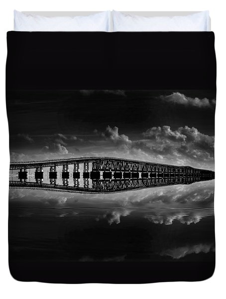 Bahia Honda Bridge Reflection Duvet Cover