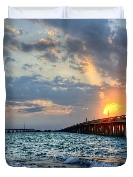 Bahia Honda Sunset Duvet Cover