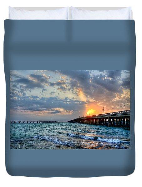 Bahia Honda Sunset Duvet Cover