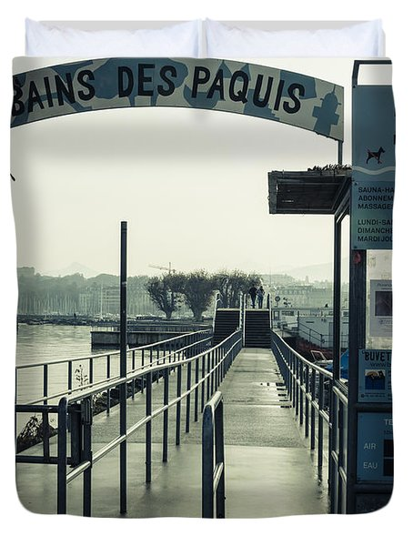 Bains Des Paquis Duvet Cover